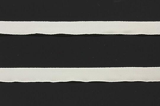 Panglica aspect catifea alba, latime 1cm (1m)
