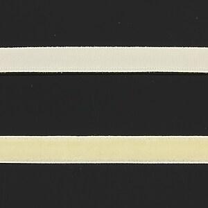 Panglica aspect catifea crem, latime 1cm (1m)