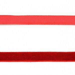 Panglica aspect catifea rosu inchis, latime 1cm (1m)
