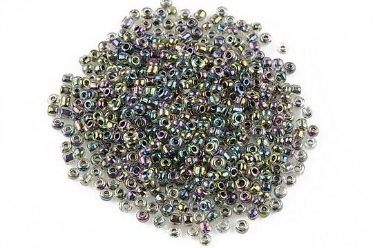 Margele de nisip 2mm cu efect de curcubeu (50g) - cod 349 - multicolor