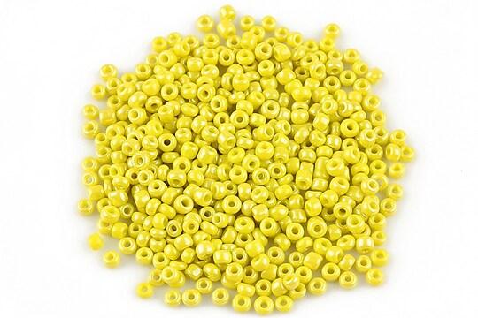 Margele de nisip 2mm lucioase (50g) - cod 351 - galben