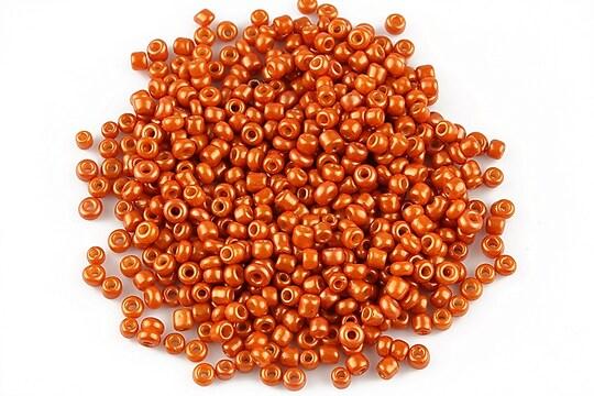 Margele de nisip 2mm lucioase (50g) - cod 357 - portocaliu