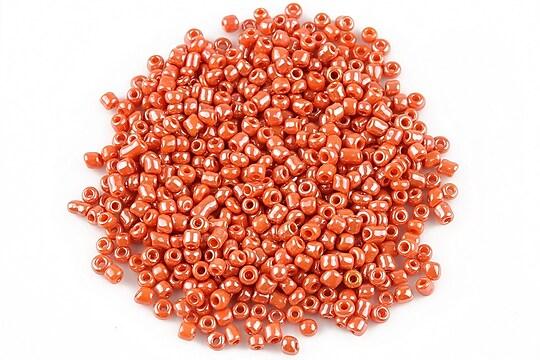 Margele de nisip 2mm lucioase (50g) - cod 358 - rosu portocaliu