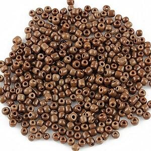 Margele de nisip 2mm opace (50g) - cod 368 - maro