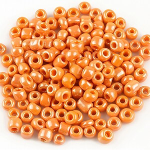 Margele de nisip 4mm lucioase (50g) - cod 381 - portocaliu