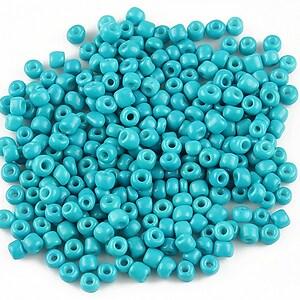 Margele de nisip 3mm opace (50g) - cod 393 - albastru turcoaz