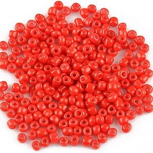 Margele de nisip 3mm opace (50g) - cod 399 - rosu aprins