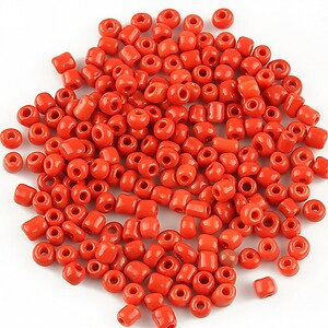 Margele de nisip 3mm opace (50g) - cod 400 - rosu