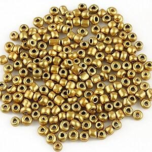Margele de nisip 3mm (50g) - cod 406 - auriu