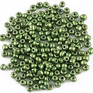 Margele de nisip 3mm cu efect frosted (50g) - cod 407 - verde