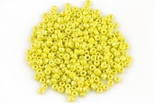 Margele de nisip 3mm lucioase (50g) - cod 409 - galben verde
