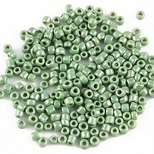 Margele de nisip 3mm lucioase (50g) - cod 411 - verde