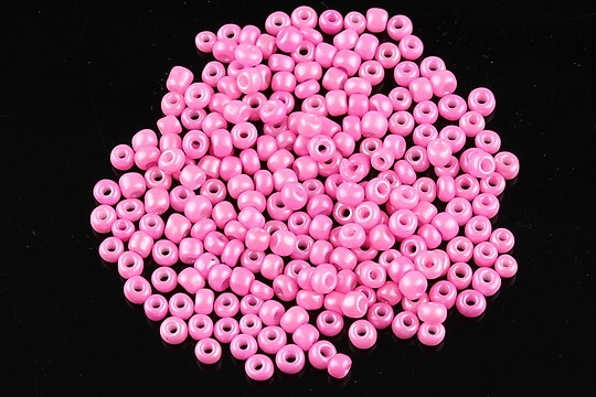 Margele de nisip 3mm lucioase (50g) - cod 415 - roz