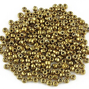 Margele de nisip 3mm lucioase (50g) - cod 419 - bronz