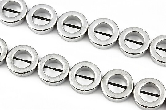 Hematit electroplacat 14mm - argintiu