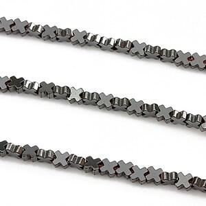 Hematit electroplacat 4mm - argintiu inchis