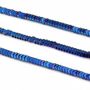 Hematit electroplacat 2x3mm - albastru