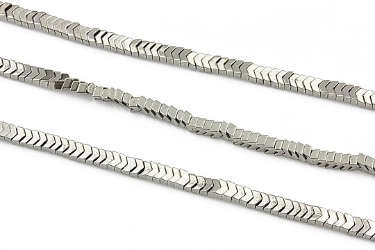 Hematit electroplacat 2x3mm - argintiu inchis