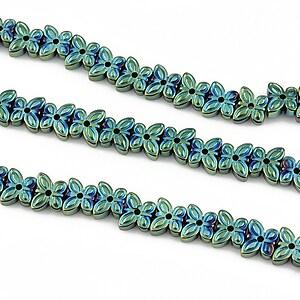Hematit electroplacat fluture 5x6x2mm - verde albastru