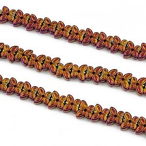 Hematit electroplacat fluture 5x6x2mm - roz portocaliu