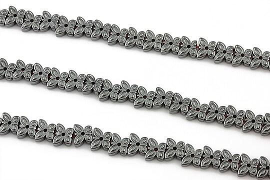 Hematit electroplacat fluture 5x6x2mm - argintiu inchis