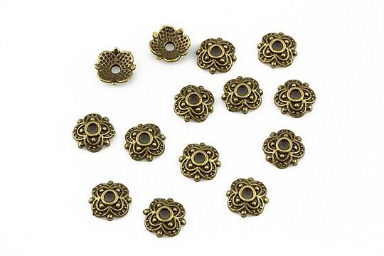 Capacele margele bronz 8x2mm