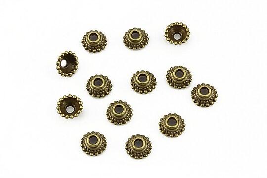 Capacele margele bronz 7x3mm