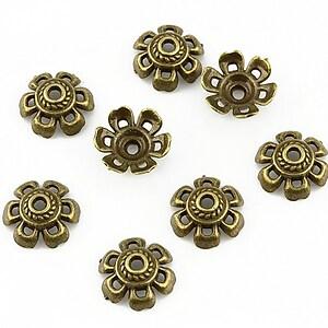 Capacele margele bronz 10x4mm