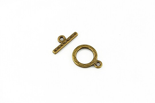 Inchizatoare toggle bronz 15x11mm