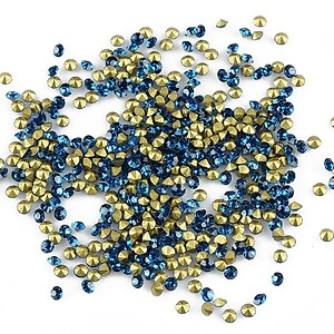 Cabochon rhinestone cristal 2mm (20 buc.) - albastru electric