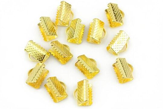 Capat snur auriu 10mm (10x8x6mm) (10buc.)