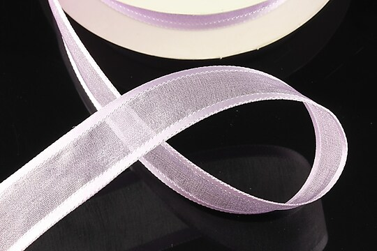 Panglica organza si saten, latime 2,5cm (1m) - lila