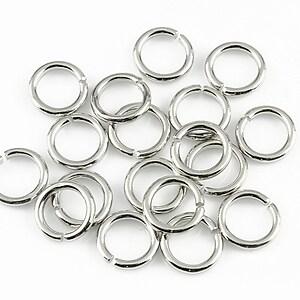 Zale argintiu inchis 9mm (grosime 1,2mm) (10 buc.)