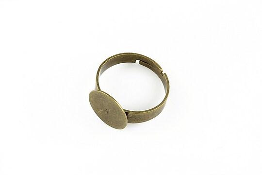 Baza de inel bronz, reglabila, cu platou 12mm