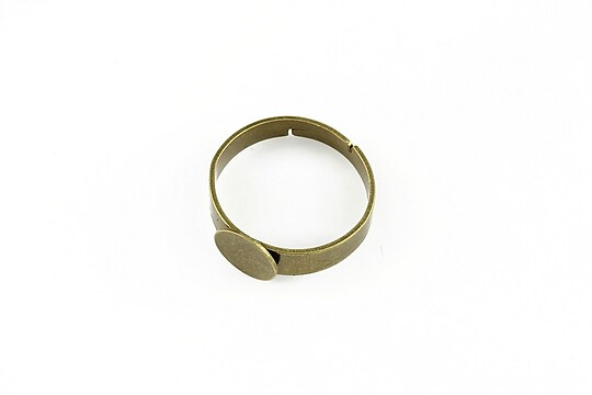 Baza de inel bronz, reglabila, cu platou 8mm