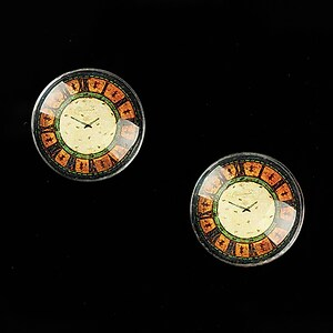 "Cabochon sticla 16mm ""Old Clock"" cod 626"