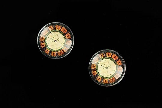 "Cabochon sticla 16mm ""Old Clock"" cod 626"
