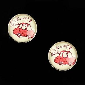 """Cabochon sticla 16mm """"Vintage Paris"""" cod 631"""