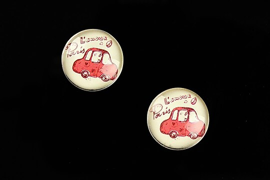 "Cabochon sticla 16mm ""Vintage Paris"" cod 631"