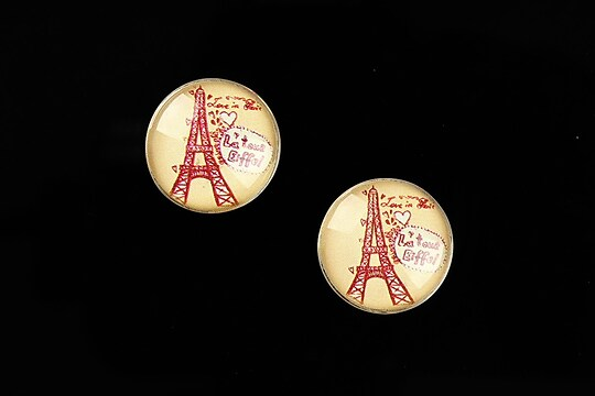 "Cabochon sticla 16mm ""Vintage Paris"" cod 635"