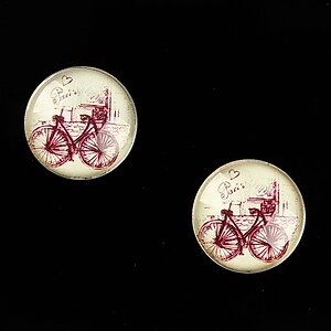 "Cabochon sticla 16mm ""Vintage Paris"" cod 636"