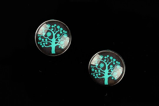 "Cabochon sticla 16mm ""Tree of Life"" cod 637"