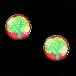 "Cabochon sticla 16mm ""Tree of Life"" cod 639"