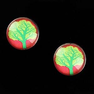 "Cabochon sticla 16mm ""Tree of Life"" cod 639"