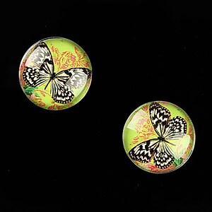 "Cabochon sticla 16mm ""Amazing Butterfly"" cod 641"