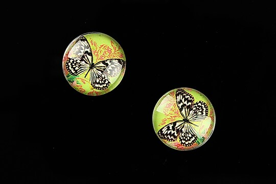 "Cabochon sticla 16mm ""Amazing Butterfly"" cod 641"