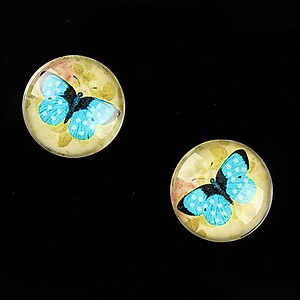 "Cabochon sticla 16mm ""Amazing Butterfly"" cod 642"