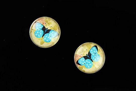 "Cabochon sticla 16mm ""Amazing Butterfly"" cod 642"