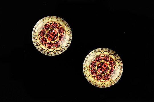 "Cabochon sticla 18mm ""Vintage Jewels"" cod 655"