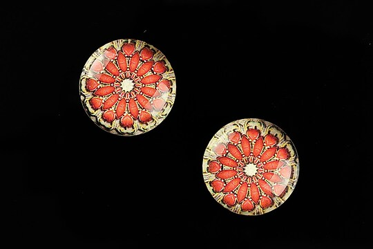 "Cabochon sticla 18mm ""Vintage Jewels"" cod 656"